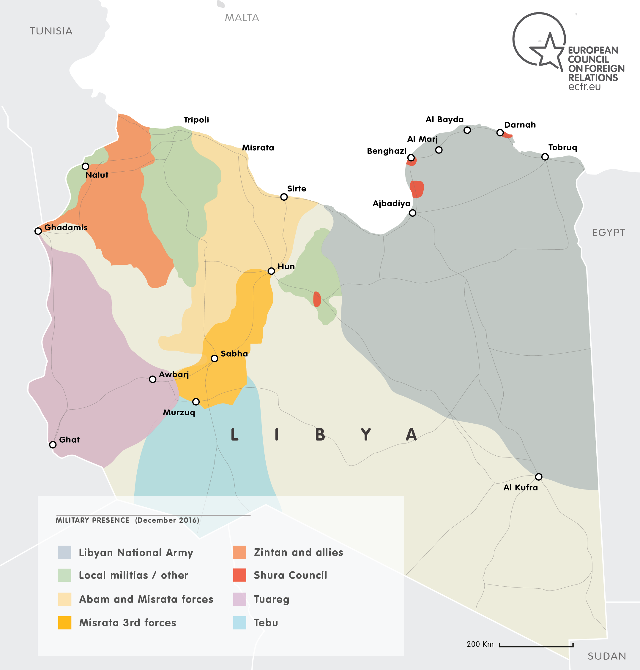 MAP OF  Who controls what in Libya