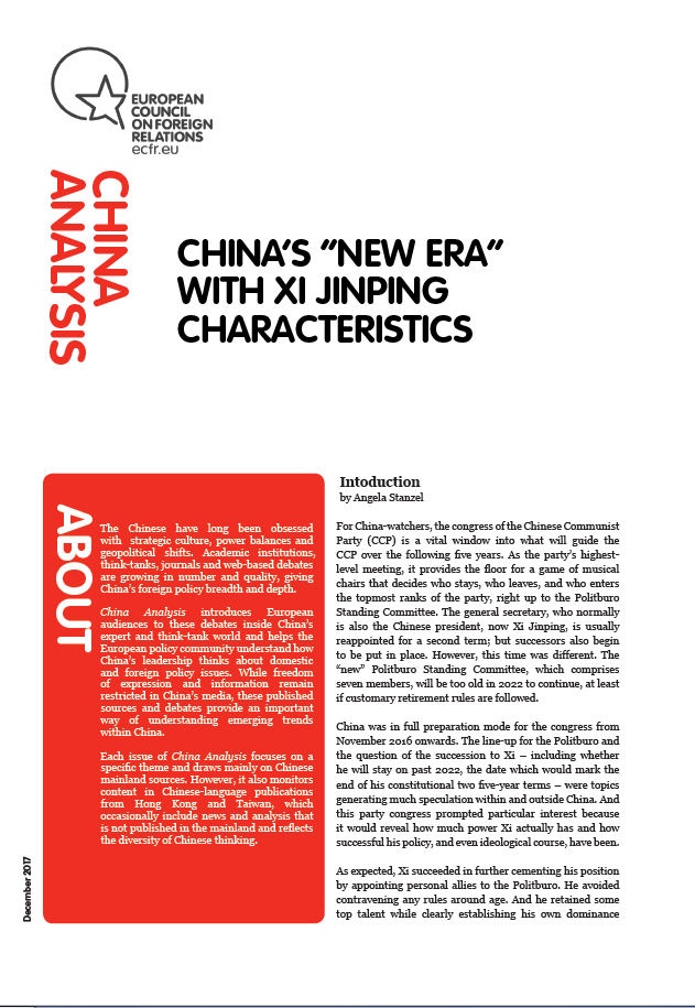 "Cover: China's ""New Era"" with Xi Jinping characteristics"