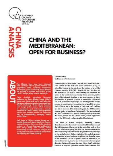 Cover: China y el Mediterráneo: ¿Se abre el negocio?