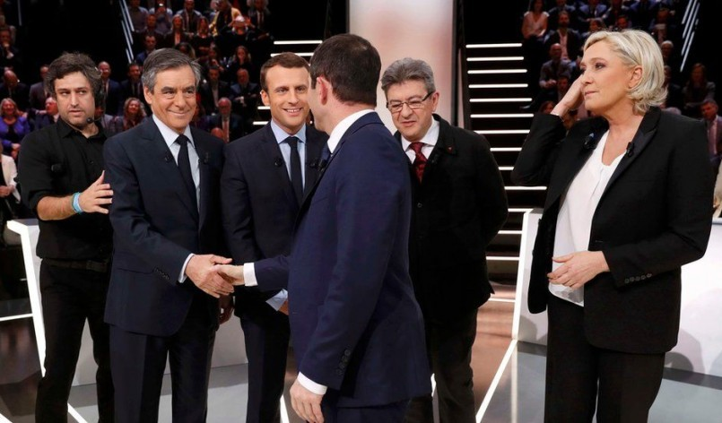 French election candidates on the European test