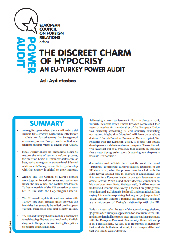 Cover: Power Audit UE-Turcja: dyskretny urok hipokryzji