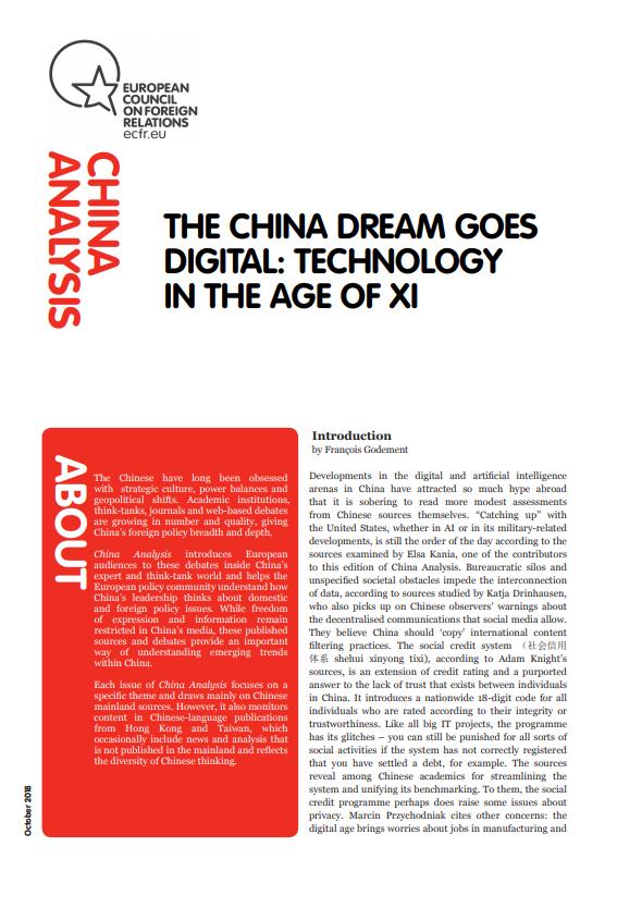 Cover: Chińskie marzenie cyfrowe: Technologia w epoce Xi Jinpinga