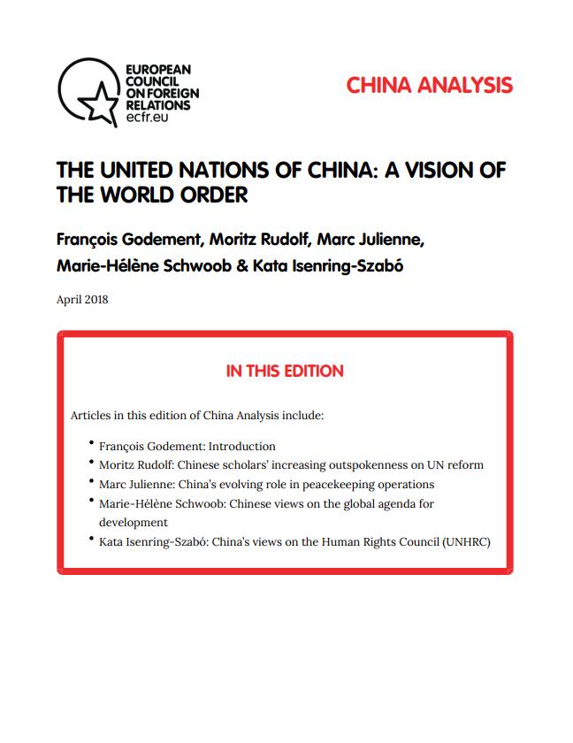 Cover: Les Nations Unies et la Chine : une nouvelle vision de l'ordre mondial ?