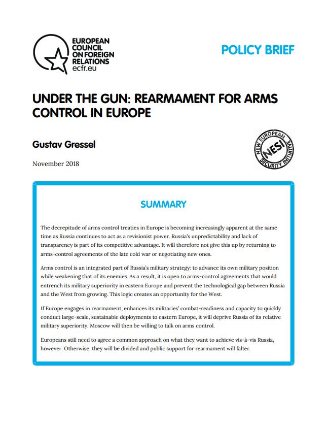 Cover: Bajo las armas: Rearme para el control armamentístico en Europa