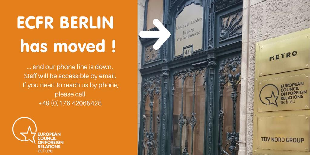 ECFR Berlin has moved // Wir sind umgezogen!