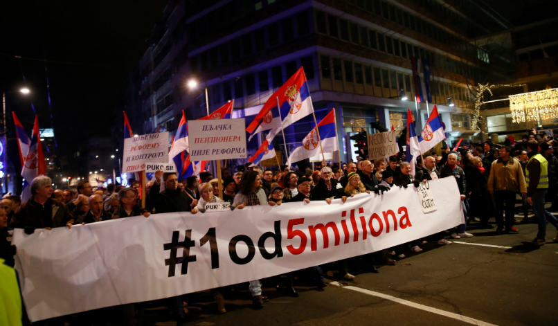 """1 in 5 million"": Mounting pressure in Balkan protests"