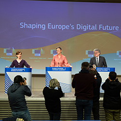 "Main image for ""Conquering the cyber sphere: How the EU can build digital sovereignty"" podcast"