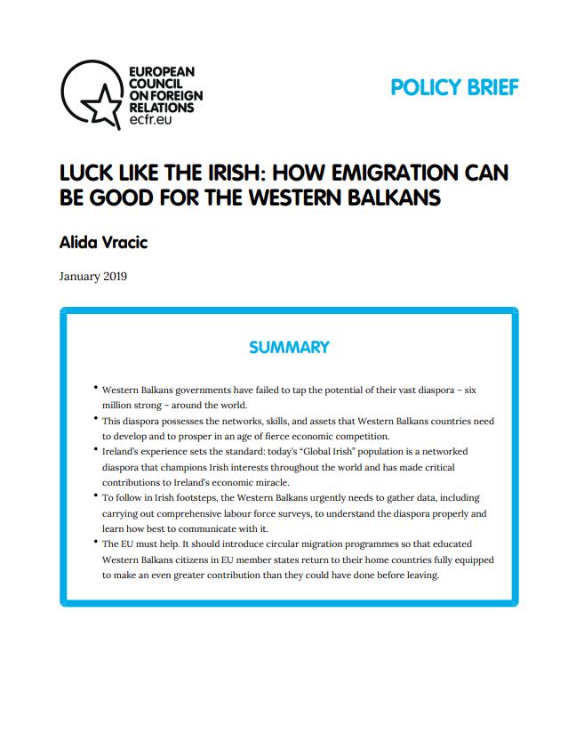 Cover: Cómo la emigración puede ser beneficiosa para los Balcanes Occidentales