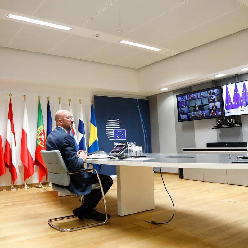 "Main image for ""Stumbling into its moment of truth: the EU's debate over its economic response to covid-19"" podcast"