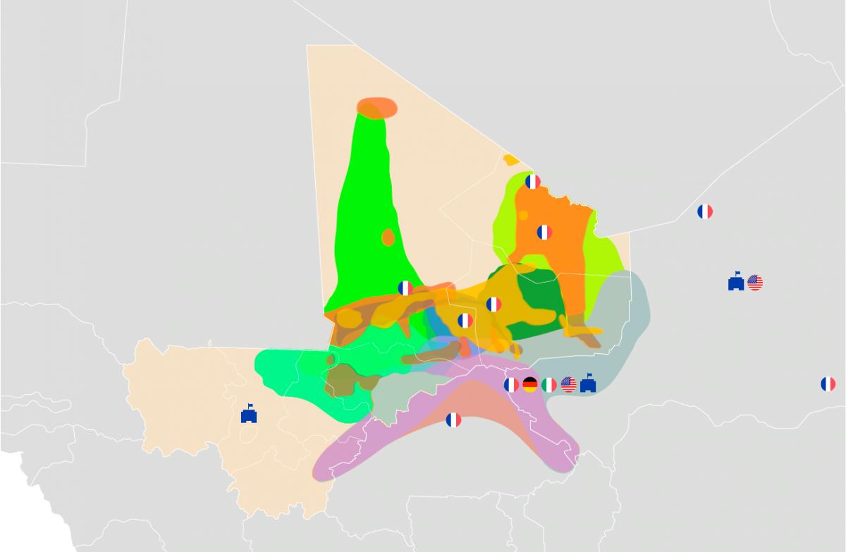 Cover: Cartographie des groupes armés au Mali et au Sahel