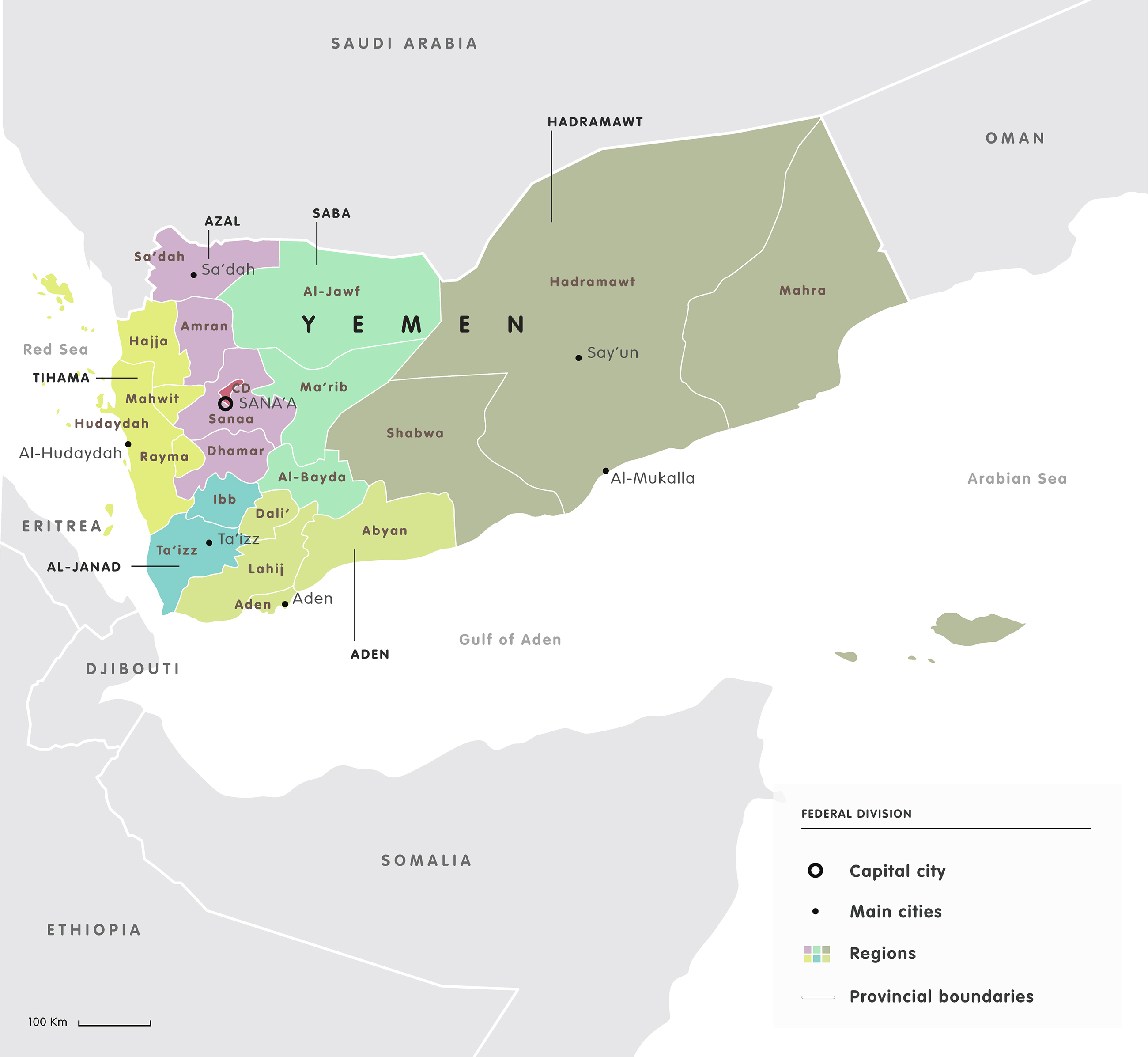 Mapping The Yemen Conflict European Council On Foreign Relations - Yemen maps with countries