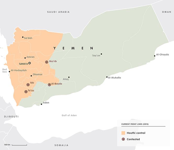 Yemen frontlines 2015