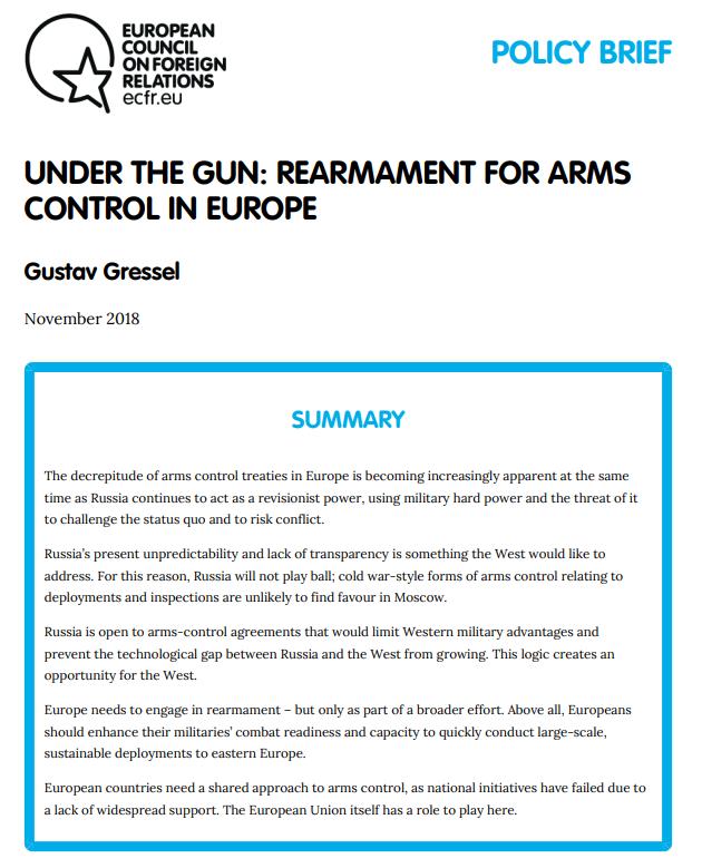 Cover: Se réarmer pour mieux maîtriser les armements en Europe