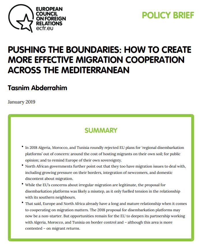 Cover: Comment créer une coopération plus efficace en matière de migration