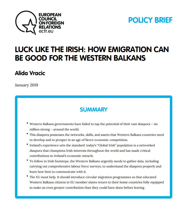 Cover: Comment l'émigration peut être bénéfique pour les Balkans