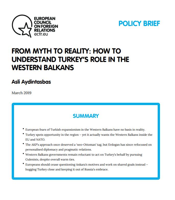 Cover: Comment comprendre le rôle de la Turquie dans les Balkans occidentaux ?