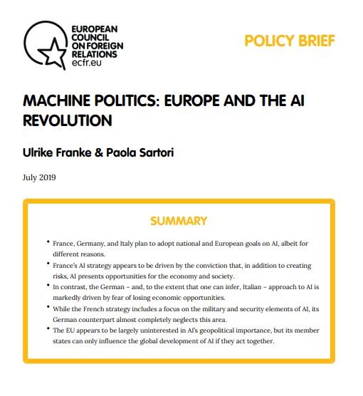 Cover: La révolution de l'intelligence artificielle en Europe