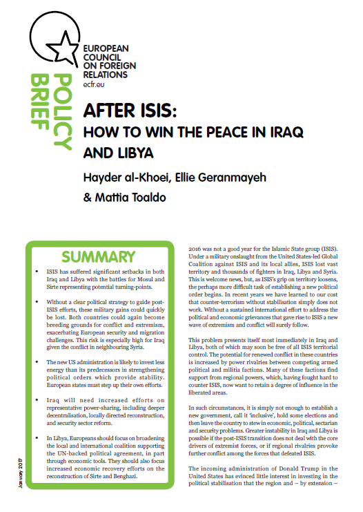 Cover: After ISIS: How to Win the Peace in Iraq and Libya