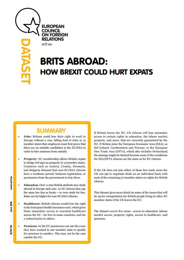 Cover: Brits abroad: How Brexit could hurt expats