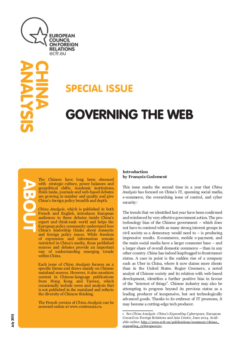 Cover: Governing the Web
