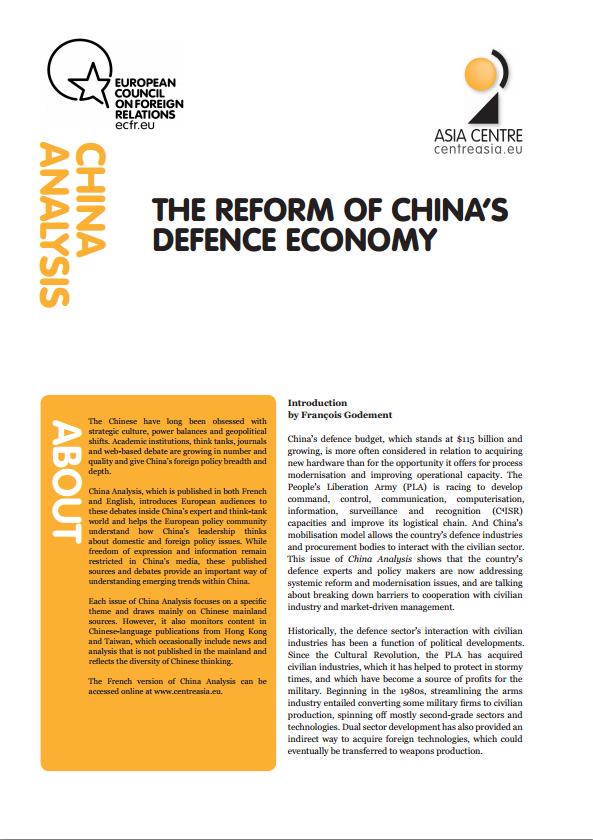 Cover: La riforma del settore della difesa cinese