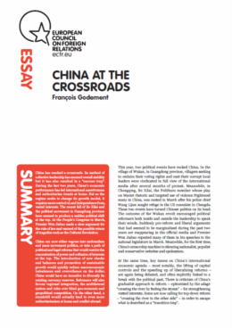 Cover: China at the crossroads: are the reformers winning the argument?