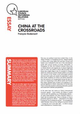 Cover: La Chine à la croisée des chemins : les réformateurs remportent-ils la partie?