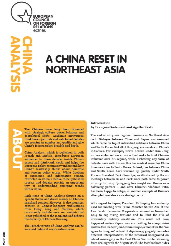 Cover: A China reset in Northeast Asia