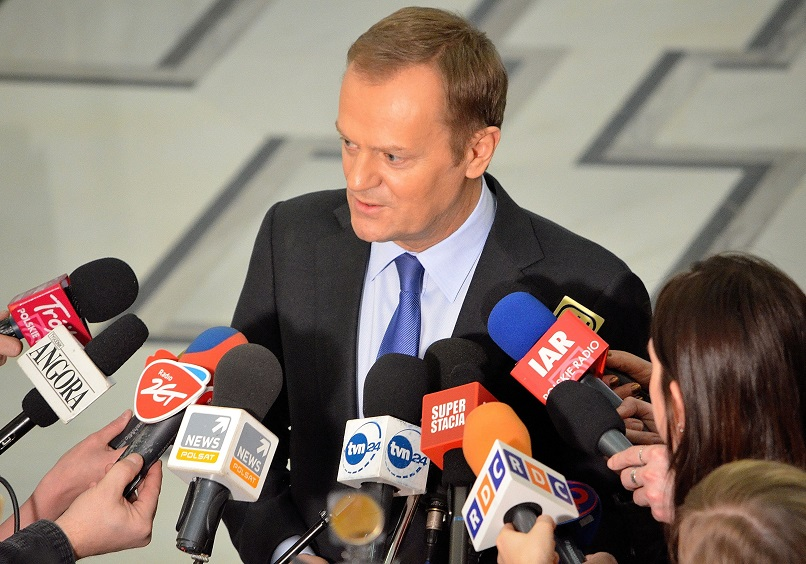 Polish PM Donald Tusk interviewed in the Sejm - Wikimedia/Adrian Grycuk