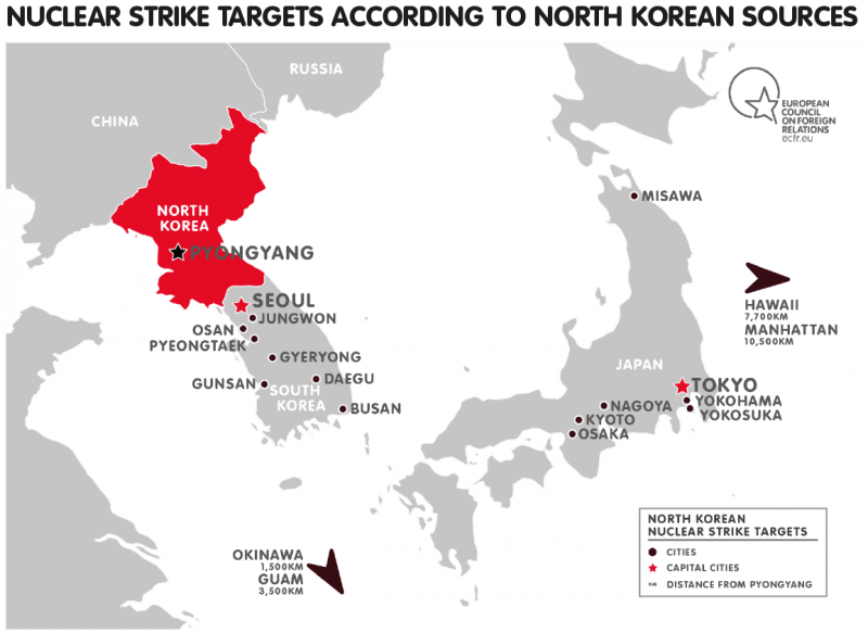 Preempting Defeat In Search Of North Koreas Nuclear Doctrine - North korea map of us targets