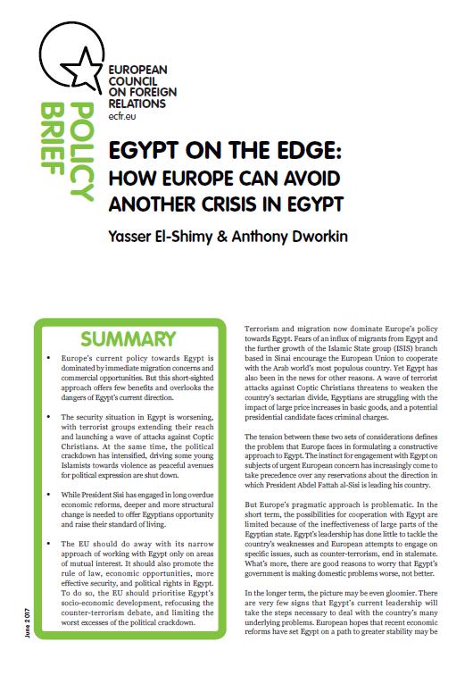 Cover: Ägypten am Abgrund: Wie Europa eine neue Krise in Ägypten verhindern kann