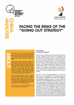 Cover: China Analysis: Facing the risks of the 'going out strategy'