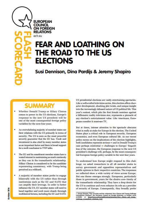 Cover: Miedo y aversión en el camino a las elecciones presidenciales de Estados Unidos