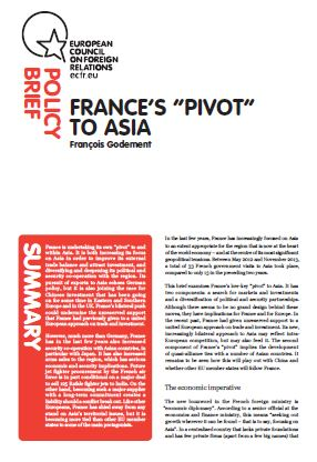 "Cover: France's ""pivot"" to Asia"