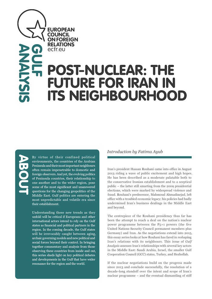 Cover: Post-Nuclear: The future for Iran in its neighbourhood