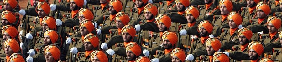 India Army Sikh Light Infantry. By Antônio Milena, Wikimedia.