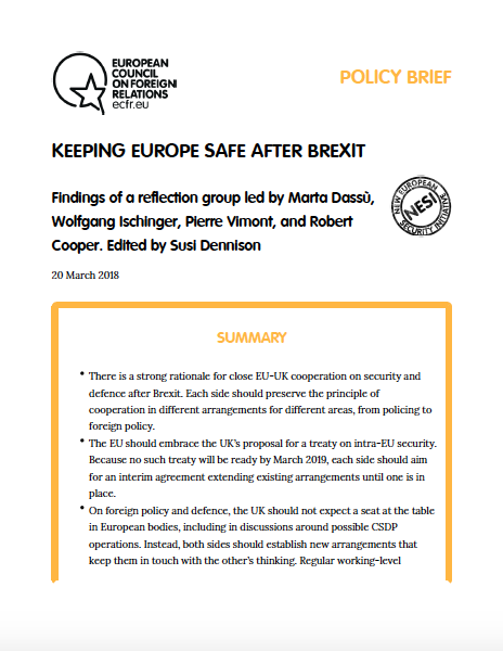 Cover: Europäische Sicherheit und Verteidigung nach Brexit