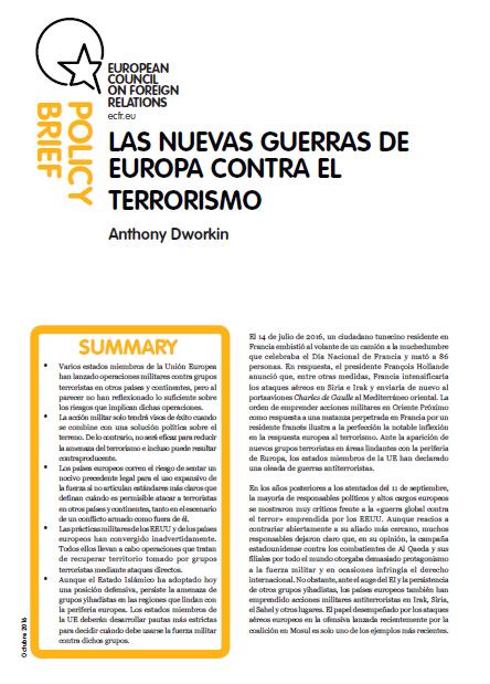 Cover: Las nuevas guerras de Europa contra el terrorismo