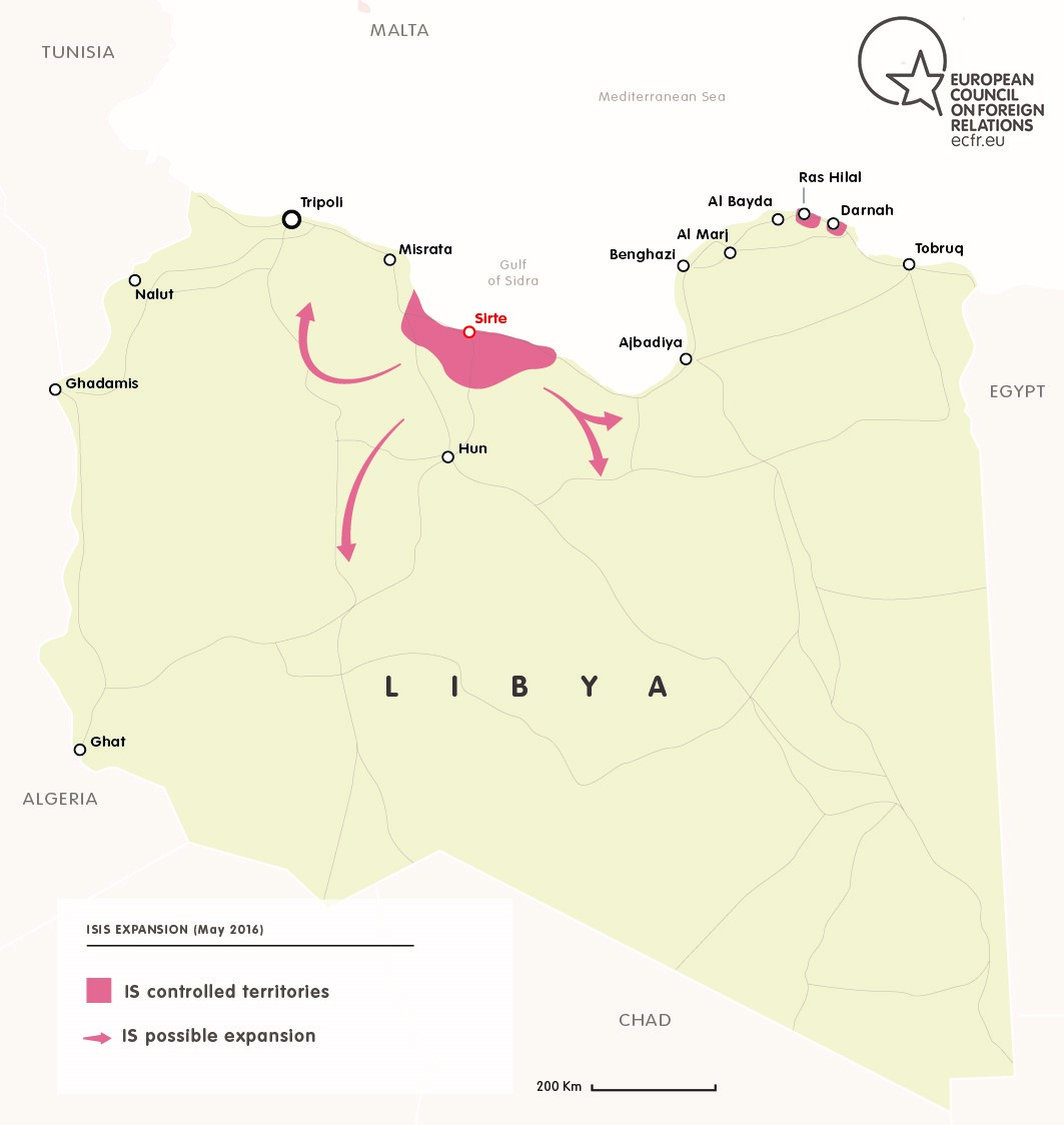 ISIS EXPANSION IN LIBYA MAY 2016