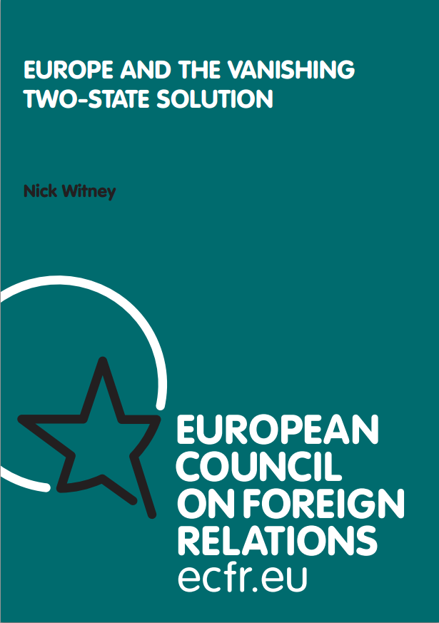 Cover: Europe and the vanishing two-state solution