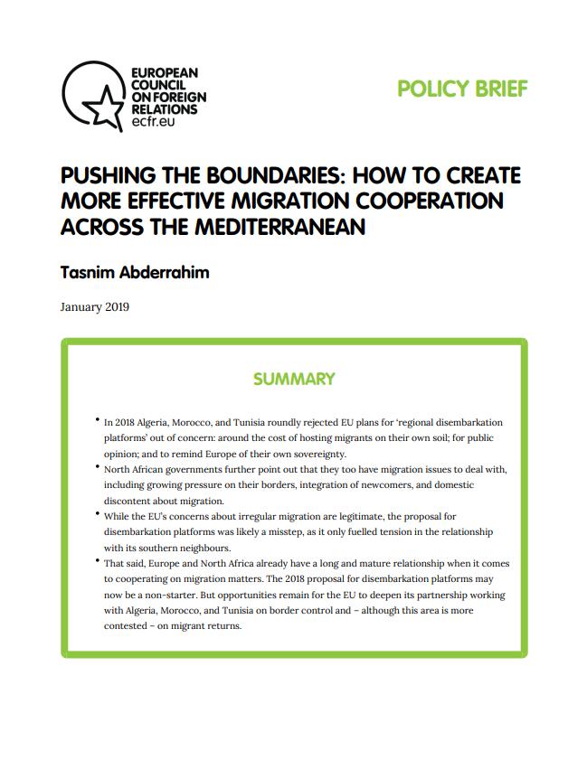 Cover: Ampliando fronteras: Cómo crear una cooperación migratoria más efectiva