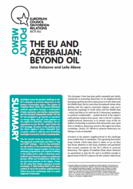 Cover: The EU and Azerbaijan: Beyond Oil