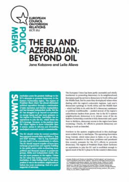 Cover: The EU and Azerbaijan: Beyond Oil
