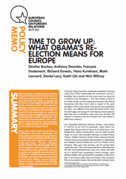 Cover: Time to grow up: what Obama's re-election means for Europe