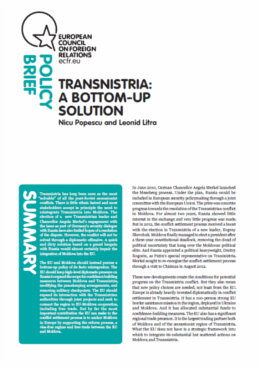 Cover: Transnistria: A bottom-up solution