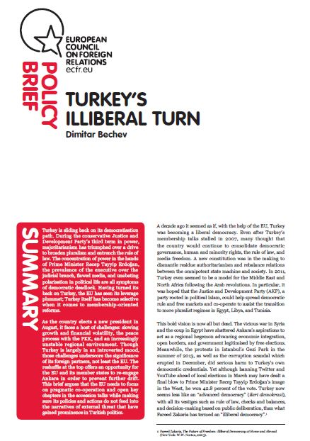 Cover: Turkey's illiberal turn