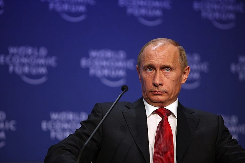 © Putin at World Economic Forum, photo by Remy Steinegger