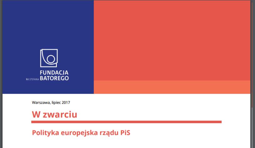 W zwarciu: polityka europejska rządu PiS