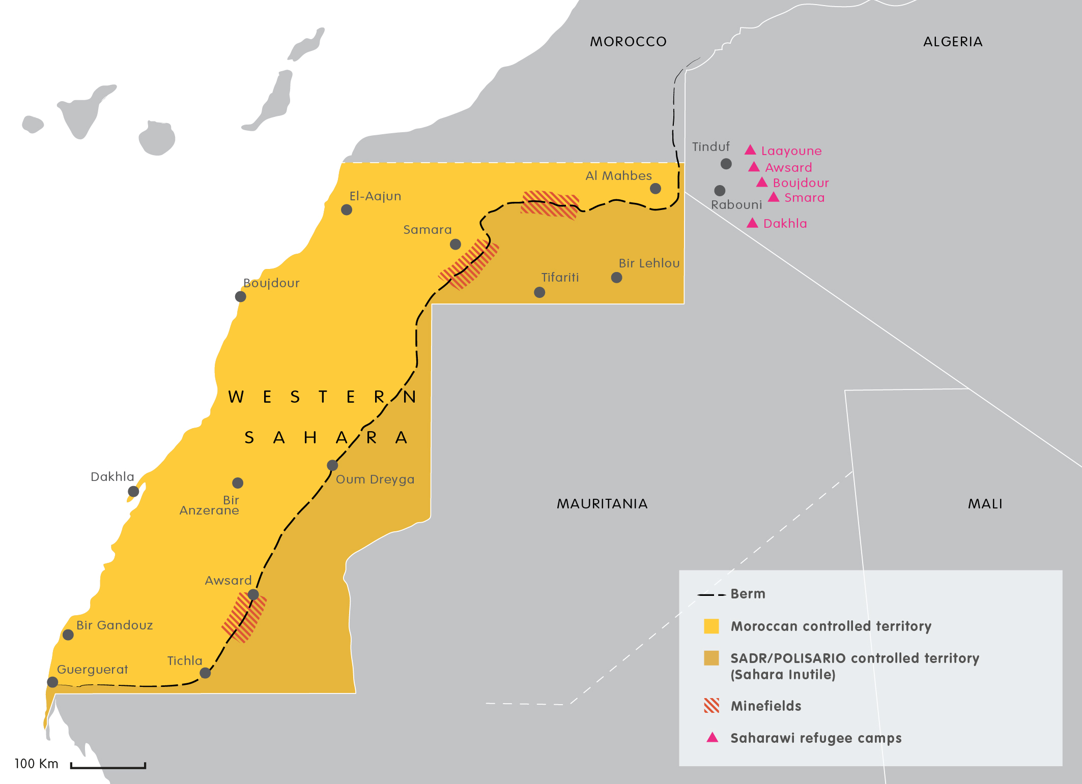 The EU Morocco And The Western Sahara A Chance For Justice - Western sahara map
