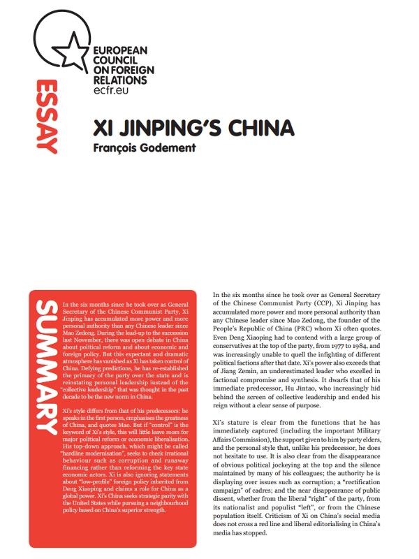 Cover: La Cina di Xi Jinping